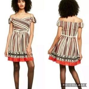 Anna Sui 100% Silk Striped Dress size Small